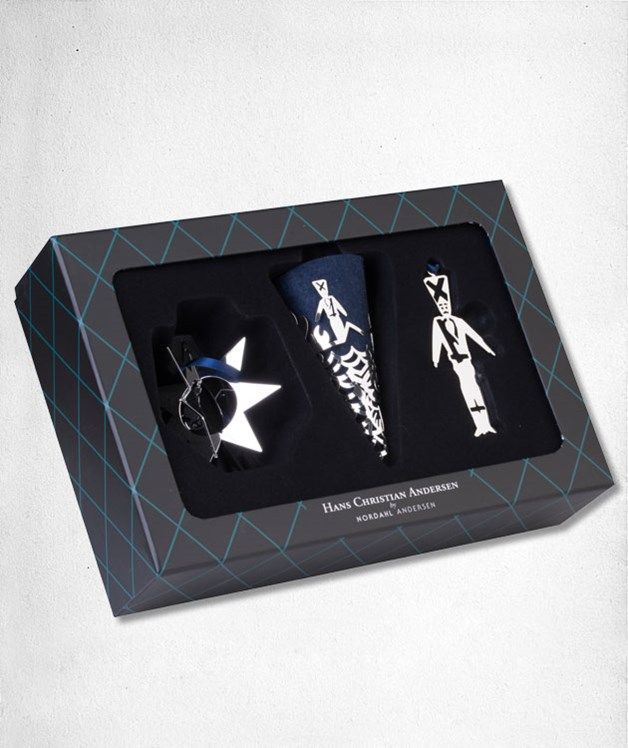 Soldier Gift Box - Cone, star and suspension of silverplated brass