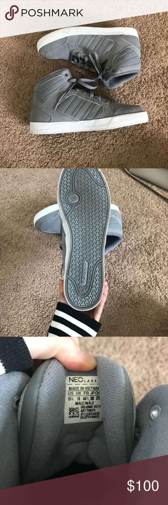 adidas neo gray high top never worn Adidas Shoes Sneakers