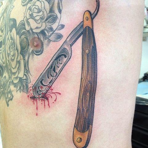 straight razor tattoo google search body ink. Black Bedroom Furniture Sets. Home Design Ideas