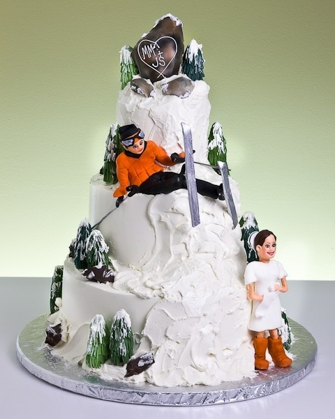 ski themed wedding cake topper 59 best images about cakes skiing on 20180