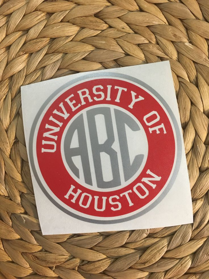 University of Houston Monogrammed Vinyl Decal by MiltonMonograms on Etsy