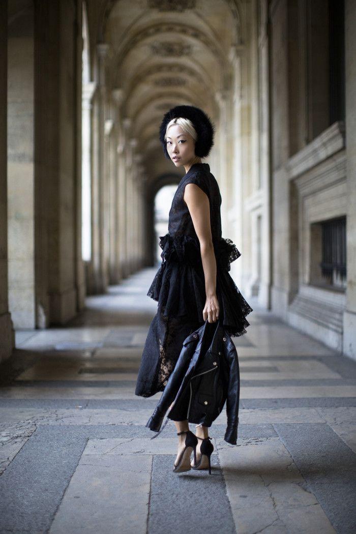 The Haute Pursuit wearing ONAR Magda Earmuffs at Paris Fashion Week