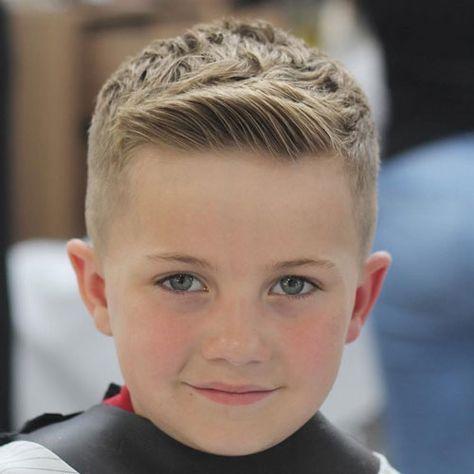 Boys Haircuts - Tapered Sides with Side Swept Fringe