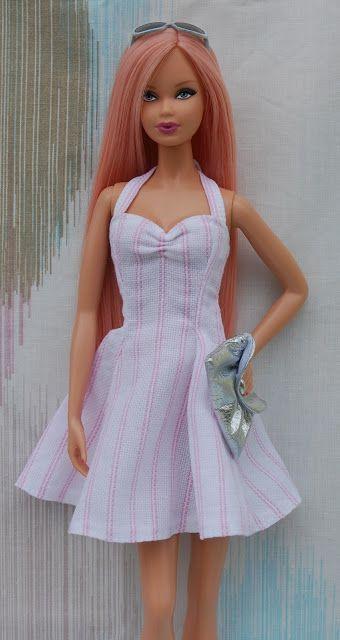 Nenca - Barbie dress pattern  Auf 120% im Landscape-Format ausdrucken!