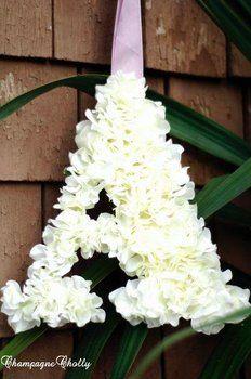DIY Wedding Challenge: Hydrangea Letters - Project Wedding