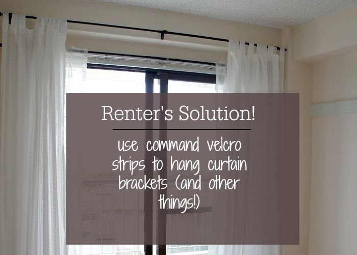 Hang Curtains without putting any holes in the wall. The perfect renter's solution!