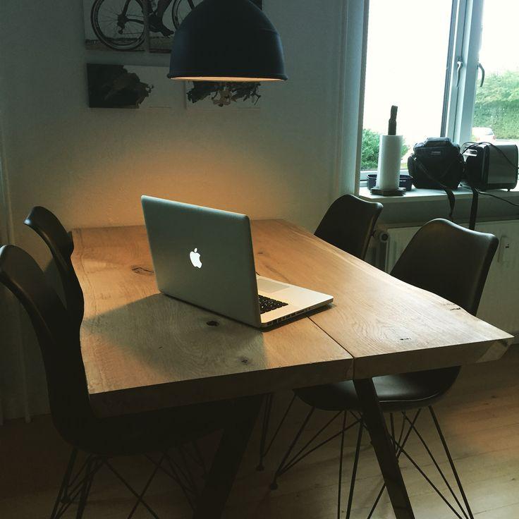 Dinner table, made of Oak wood. Homemade.