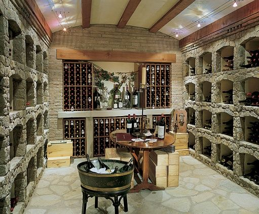 wine cellar, wine cellar, wine cellar.   All they need is some custom monogrammed barware from Crystal Imagery! http://www.crystalimagery.com