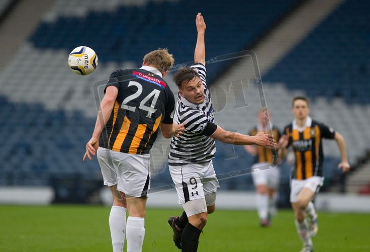 Queen's Park's Ross McPherson heads the ball during the SPFL League Two game between Queen's Park and East Fife