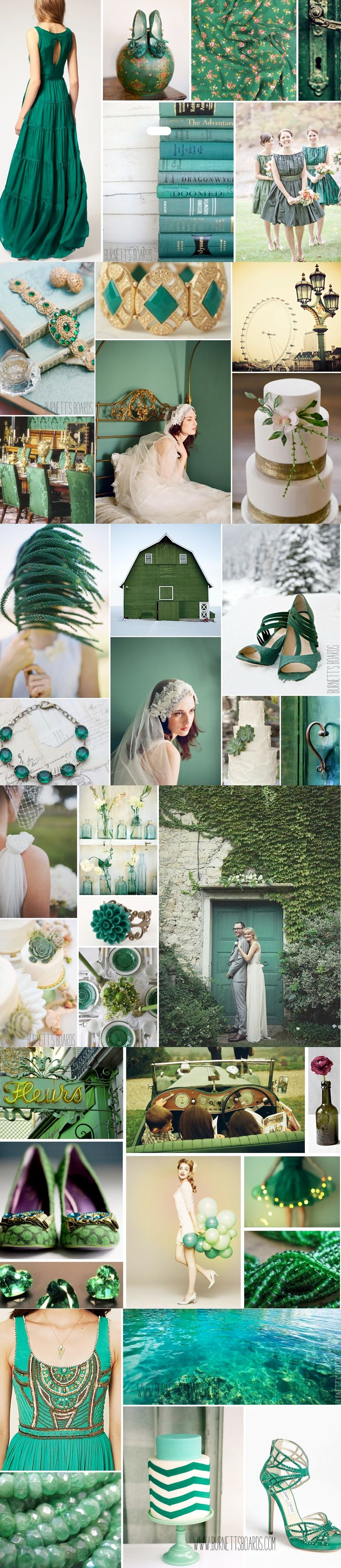 Emerald: Pantone's Color of the Year for 2013 wedding inspiration