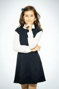 Sarafan scoala bleumarin pentru fetite