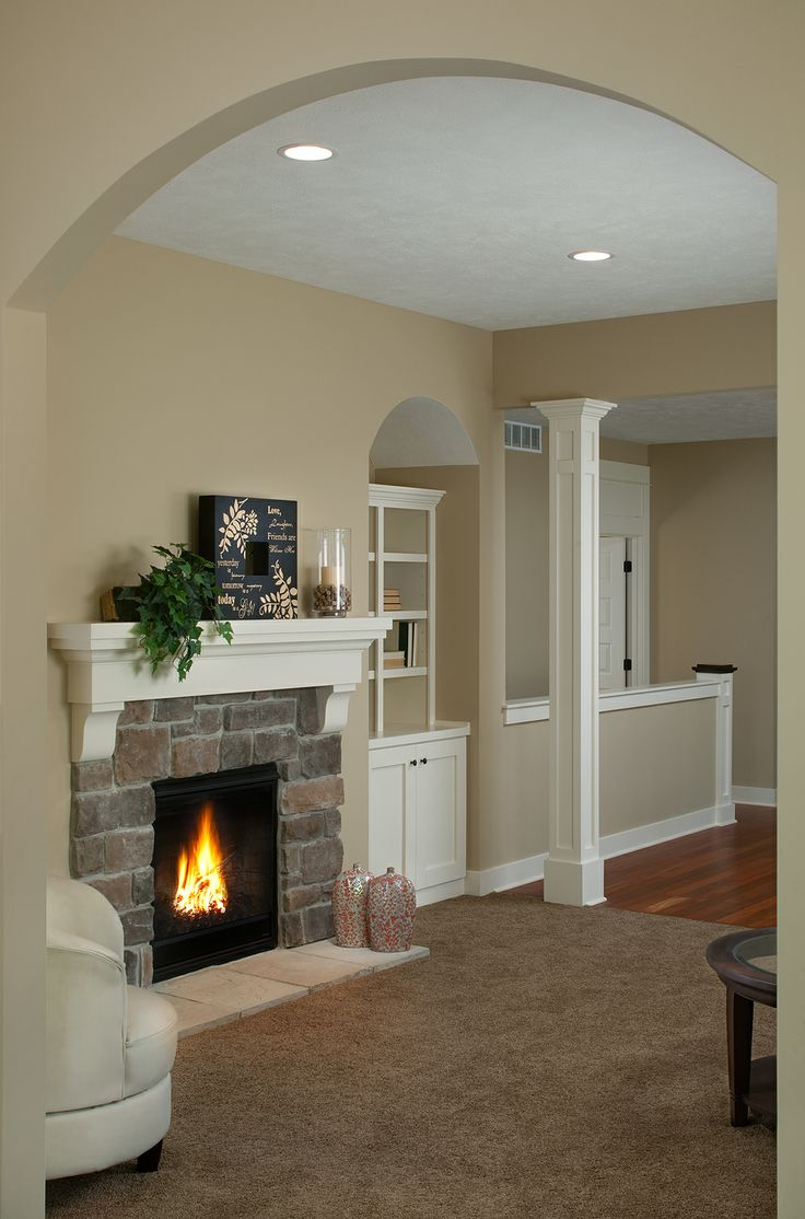 Cozy Living Room Fireplace House Ideas Pinterest