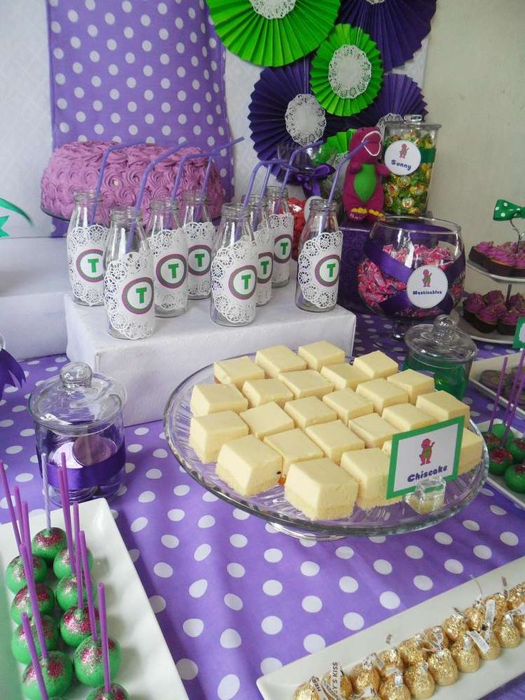 Barney the Dinosaur Birthday Party Ideas | Photo 14 of 28