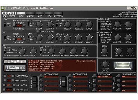 CBW01 Drum Machine VST | Free Musician's Resource