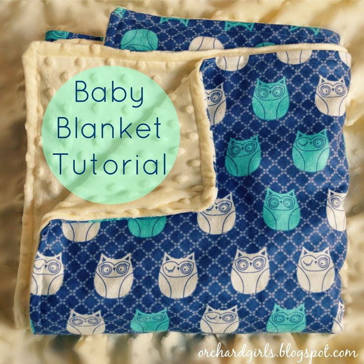 Super easy DIY Baby Blanket Tutorial (with minky and cuddle fabric)