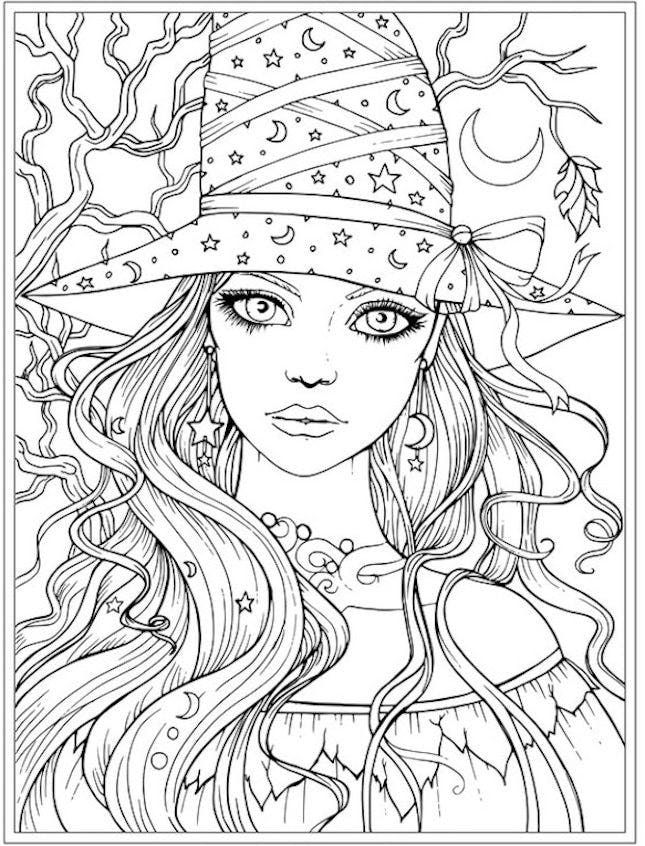 12 Halloween Coloring Page Printables To Keep Kids And Adults Busy Witch Coloring Pages Halloween Coloring Pages Fairy Coloring Pages