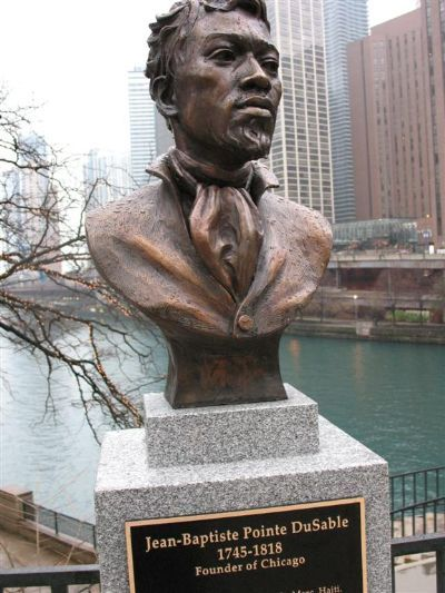 The 3rd largest city in the USA was founded by a Black man. Jean Baptiste Pointe du Sable was first settler in Chicago, arriving from Europe in 1770s. He married a Native Potawatomi Indian woman (Kittahawa) & founded first trading post in area. The Town of Chicago was organized with a population of 350, August 1833. Born in Saint-Marc, Saint-Domingue (now Haiti), he built the first permanent settlement at the mouth of the river just east of present Michigan Avenue Bridge on the north bank.