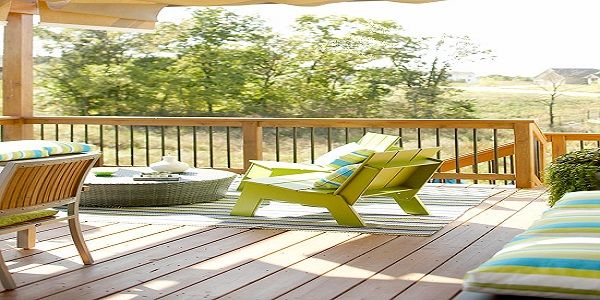 Exterior Home Design with Beautiful Deck