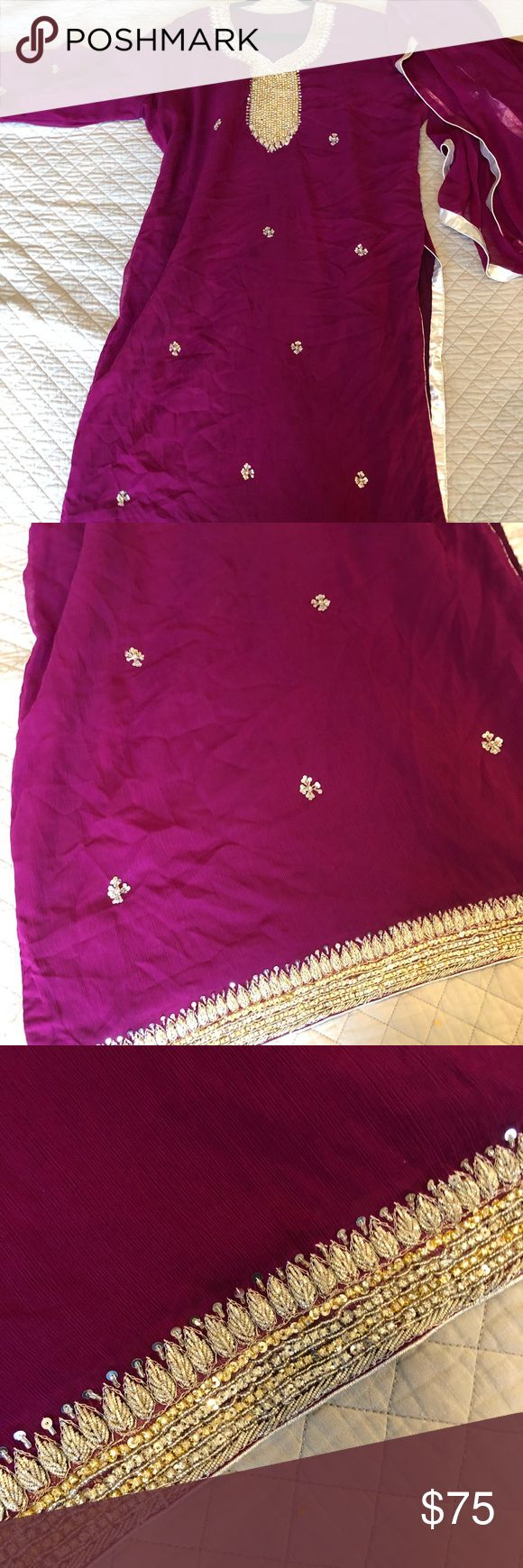 Pakistani / Indian Dress Anarkali Shalwar Kameez Pakistani / Indian Dress Anarkali Shalwar Kameez size XL-XXL. Good used condition. Dresses