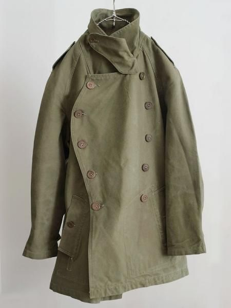 1940's french military mortorcycle coat
