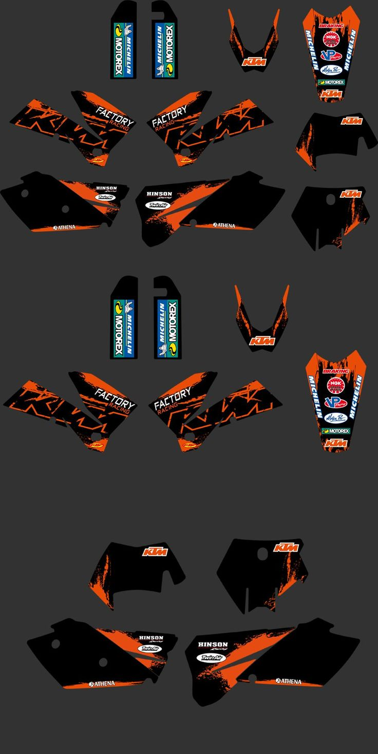 [Visit to Buy] New style (0271 factory black) TEAM GRAPHICS & BACKGROUNDS DECALS FOR KTM SXF MXC SX EXC 2005 2006 2007 #Advertisement