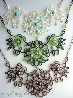Yarnplayer's Tatting Blog: Nouveau Tatted Jewelry Set pattern. A pay pattern. For inspiration.
