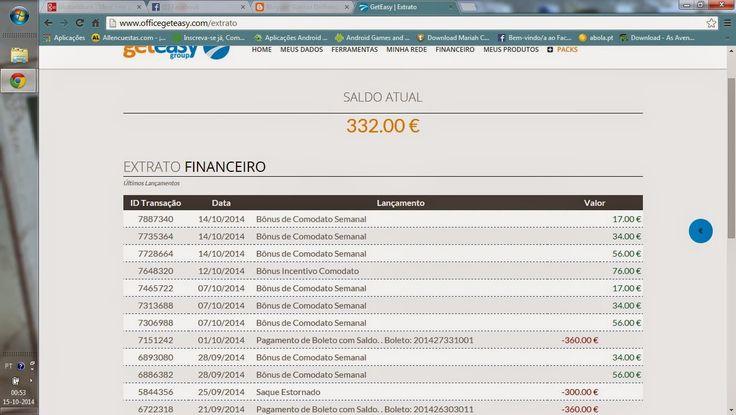 Ganhar Dinheiro Online: Ganhos semanais Publicação * Actualizado a 14/1014...