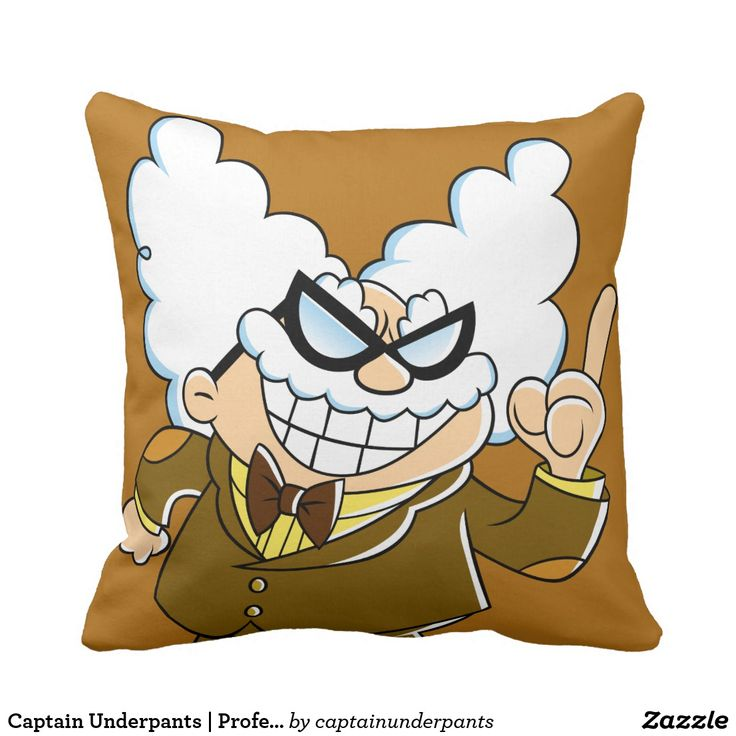 Captain Underpants   Professor Poopypants. Producto disponible en tienda Zazzle. Decoración para el hogar. Product available in Zazzle store. Home decoration. Regalos, Gifts. #cojín #pillows