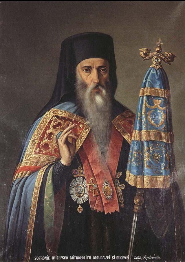 Nicolae Grigorescu (Romanian 1838–1907) [Impressionism, War artist, Muralist] Portrait of Sofronie Miclescu.