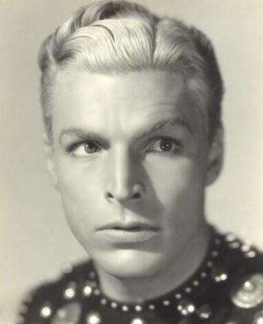 Buster Crabbe as Flash Gordon.