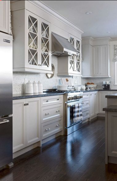 The Sarah's House 4 kitchen - lovely grey cabinets