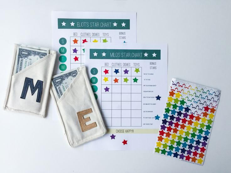 The Star Chart + Quick Wallet DIY // Chore System for Young Kids
