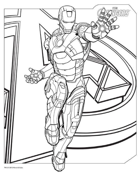 Download #Avengers coloring pages here! #IronMan: