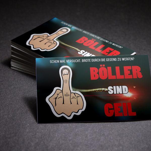 Böller sind geil - Spass Aufkleber  Brot statt Böller kennt jeder. Aber was ist mit denen, die Feuerwerk lieben? Bekenne Flagge und kleb Dir einen.