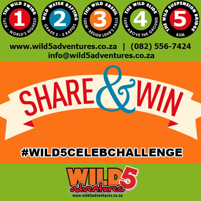 #Share and #WIN! 1 FREE #WildSwing adventure to 1 lucky person! #Wild5CelebChallenge http://bit.ly/1GT5gZt