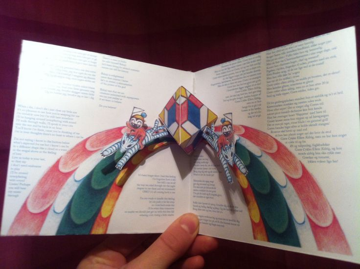 CD cover. 'In Return'. Drawing and pop-up. 2013