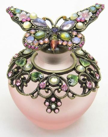 jeweled butterfly perfume bottle