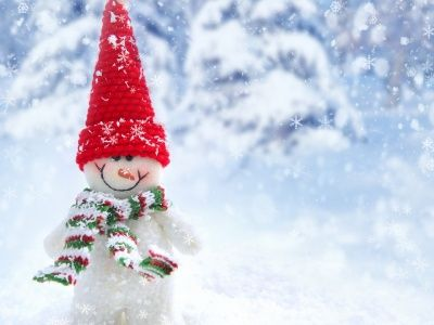 Happy Snowman in Winter (click to view)