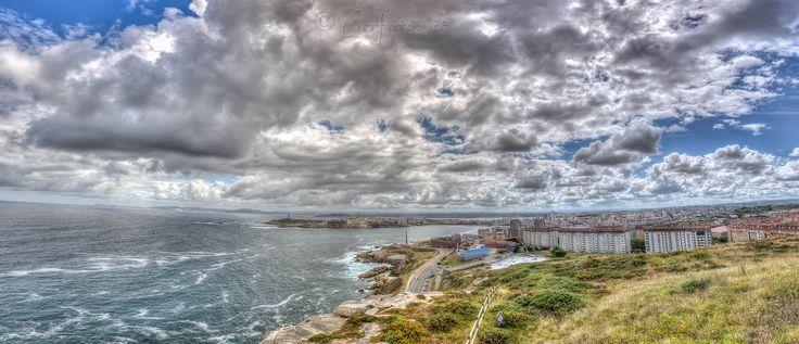 Panorámica de La Coruña desde el mirador de San Pedro