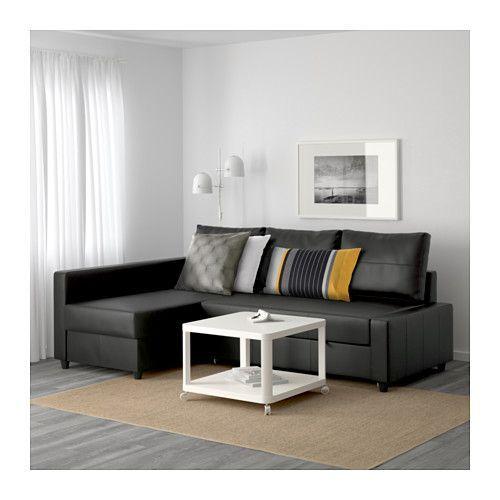 FRIHETEN Sofa bed with chaise - Bomstad black, - - IKEA