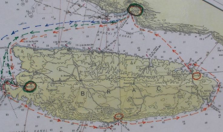Trasa rejsu wokół wyspy Brač || #Croatia #Chorwacja #Hrvatska #Island #CroatianIslands #Brac #Omis || http://crolove.pl/rejs-statkiem-wokol-wyspy-brac