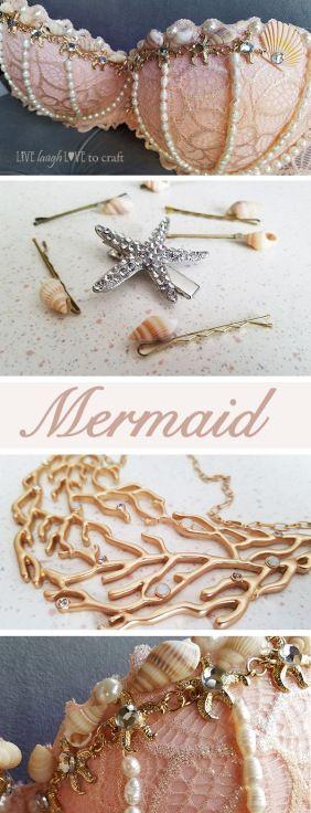 DIY Mermaid Bra & costume accessories