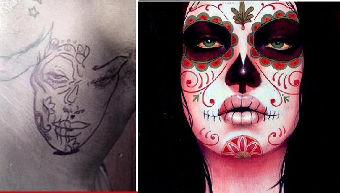day of the dead costumes | Thread: Chris Brown Tattoos Battered Woman ...