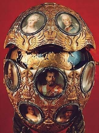 The Romanov Tercentenary Easter Egg by Faberge.