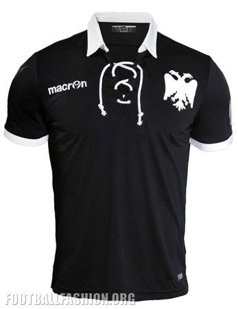 PAOK FC 2016 Macron 90th Anniversary Football Kit, Shirt, Jersey