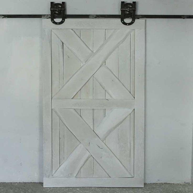 Postarzane dębowe drzwi przesuwne OLD