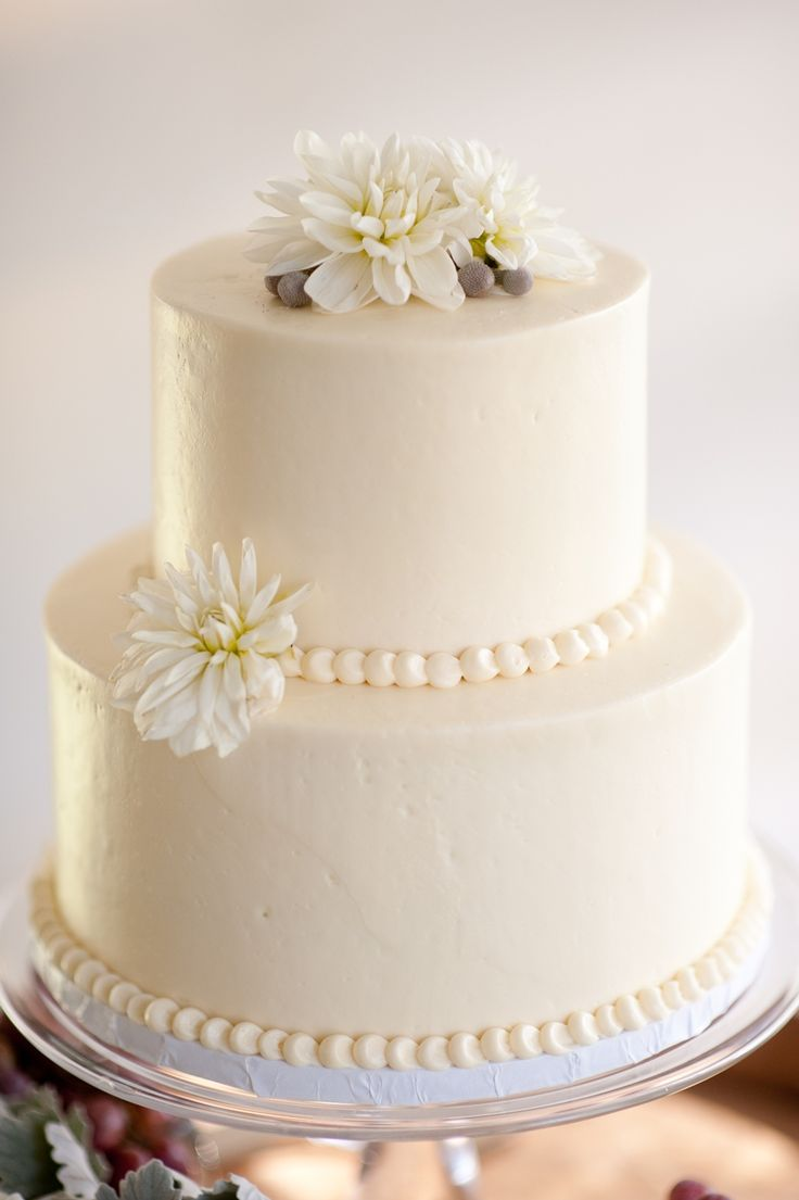 White Wedding Cakes 2 Tier