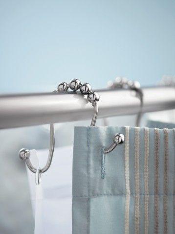 Moen SR2201CH Set Of 12 Double Shower Curtain Roller Rings In Chrome