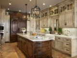 traditional kitchen by GDC ConstructionKitchens Design, Dreams Kitchens, Lights Fixtures, Traditional Kitchens, Mediterranean Kitchen, Kitchens Ideas, Cabinets Design, Kitchens Photos, Kitchens Cabinets