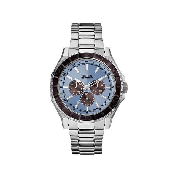 MultiFunction Stainless Steel Blue Dial Men's Watch No